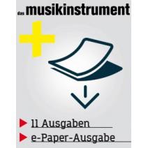 das musikinstrument Magazin im Abo