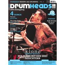Cover des aktuellen DRUMHEADS - Magazin