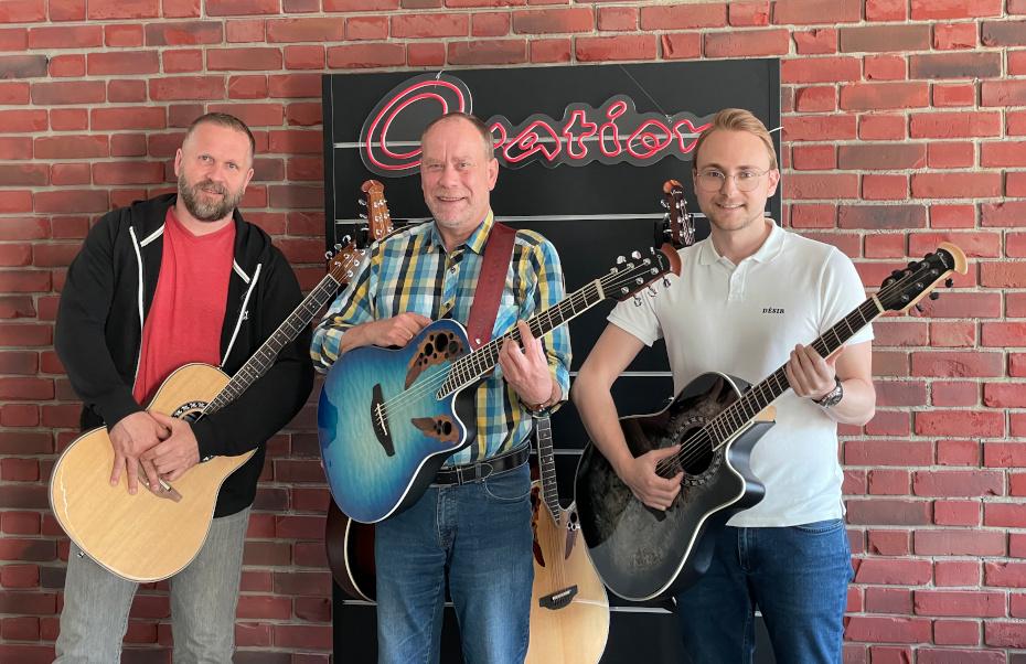 Thomas Neuhierl, Uwe Prßner und Marcel Messner von GEWA music