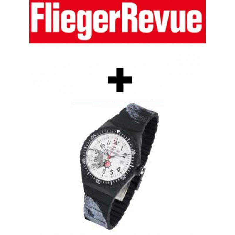 fliegerrevue 2 jahresabo mit pr mie fortis color maschinist schwarz 121 20. Black Bedroom Furniture Sets. Home Design Ideas