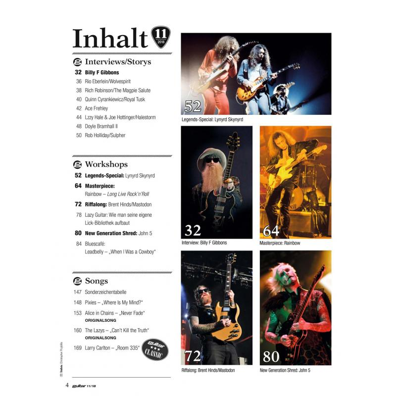 Guitar 11 2018 Printausgabe oder PDF Download