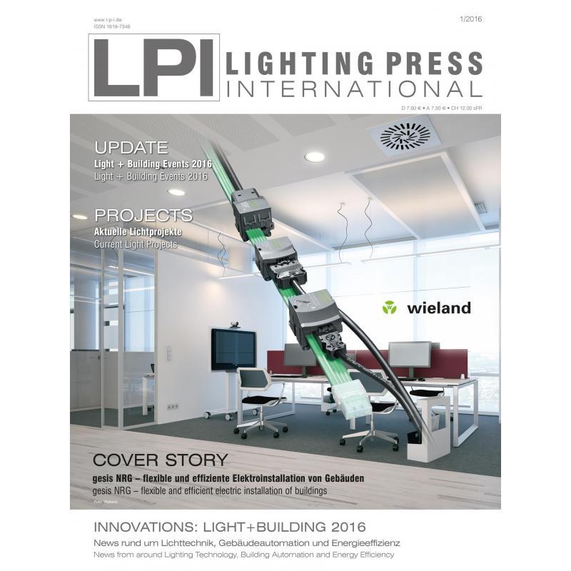 LPI Ausgabe 1/2016 | Lighting Press International | PPVMEDIEN, 6,50 €
