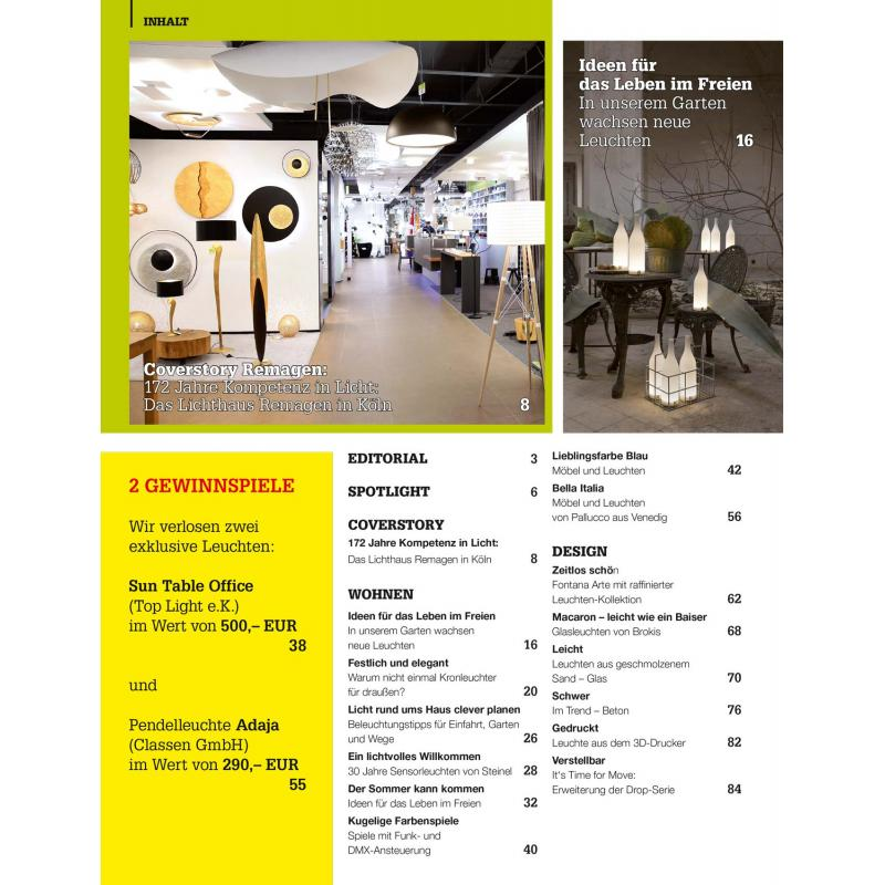 Licht Wohnen Ausgabe 22017 Ppvmedien 550