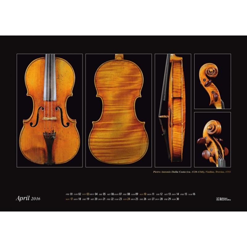 Meisterwerke des italienischen Geigenbaus Kalender 2016