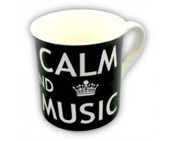 Tasse Keep Calm & Play Music (Schwarz)