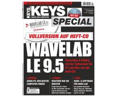 Wavelab LE 9.5 Vollversion im Keys Special 1/2018