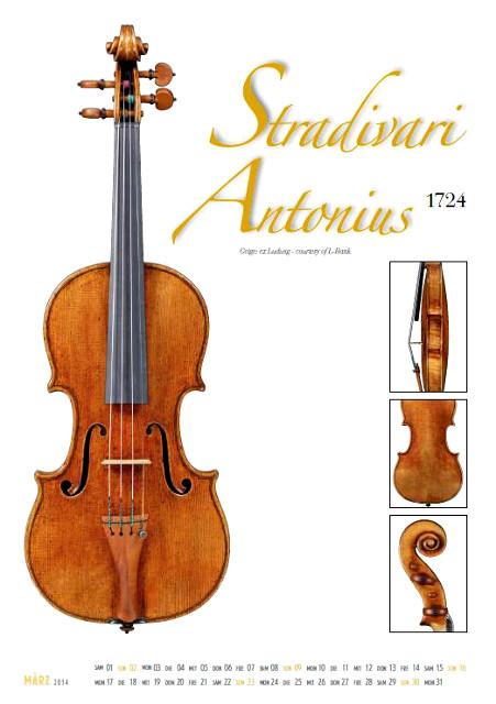 Meisterwerke des italienischen Geigenbaus Kalender 2014