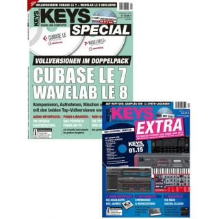 Bundle: KEYS Cubase LE 7 / Wavelab LE 8 + Best of Products 2015