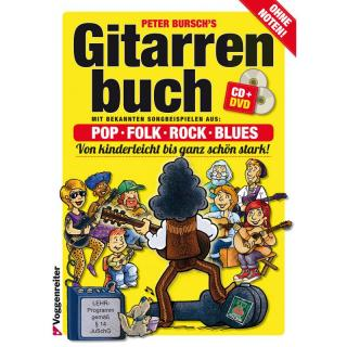 Peter Burschs Gitarrenbuch mit CD & DVD
