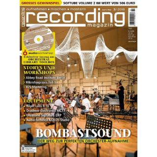 Recording Magazin 03 2018 Printausgabe oder PDF Download