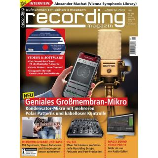 Recording Magazin 05 2019 Printausgabe oder PDF Download