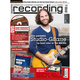 Recording Magazin 01 2016 Printausgabe oder PDF Download