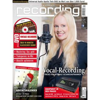 Recording Magazin 01 2017 Printausgabe oder PDF Download