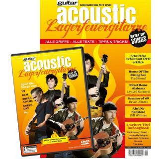 guitar acoustic Lagerfeuergitarre Best of Songs Songbook mit DVD