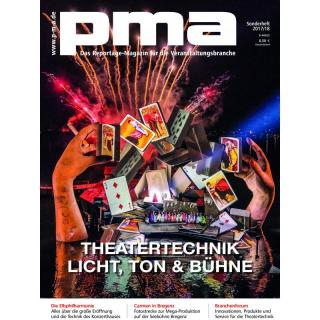 pma Sonderheft Theatertechnik 2017 / 2018 Printausgabe oder PDF Download