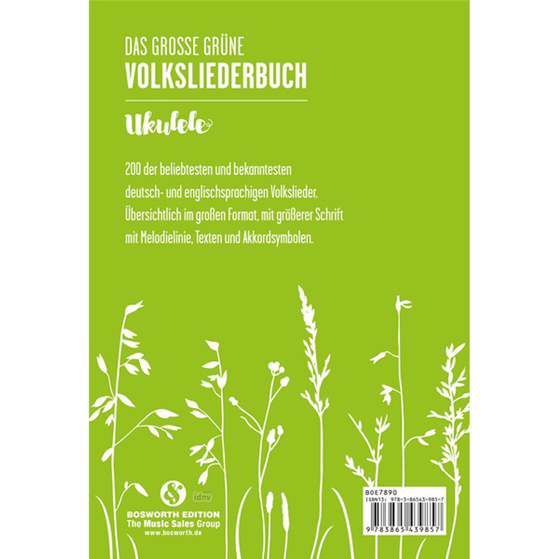 Das Grosse Grüne Volksliederbuch Ukulele Noten Akkorde