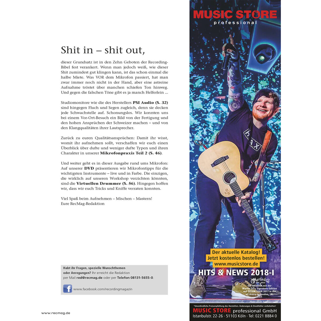 Recording Magazin 20 20 Printausgabe oder PDF Download