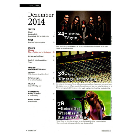 SOUNDCHECK 12 2014 Printausgabe oder PDF Download