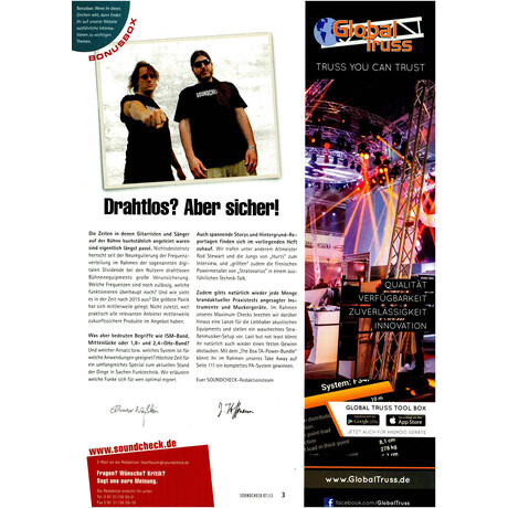 SOUNDCHECK 07 2013 Printausgabe oder PDF Download