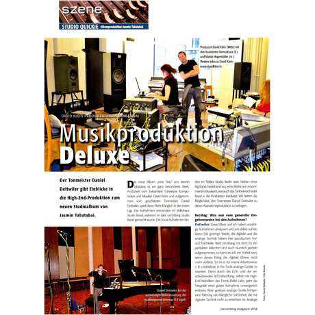 Recording Magazin 02 2012 Printausgabe oder PDF Download