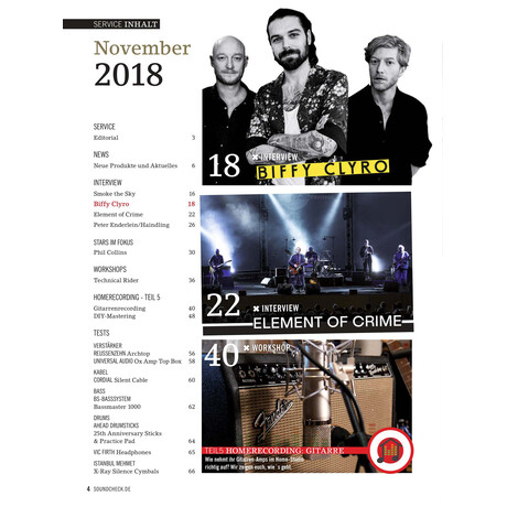 SOUNDCHECK 11 2018 Printausgabe oder PDF Download