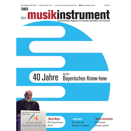 Das Musikinstrument 10 2019 Printausgabe oder PDF Download