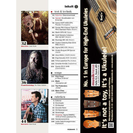 guitar acoustic 03 2016 Printausgabe oder PDF Download