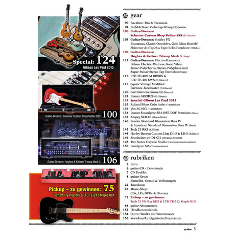 Guitar 07 2015 Printausgabe oder PDF Download
