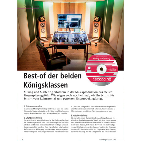 Recording Magazin 01 2018 Printausgabe oder PDF Download