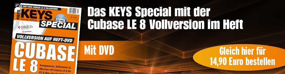 Keys special Cubase LE8