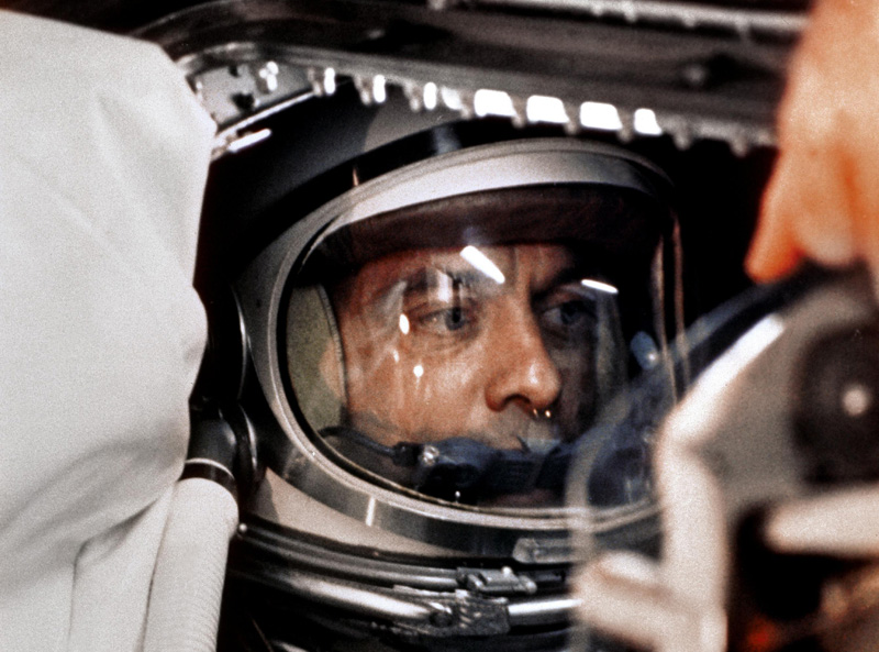 alan shepard in der mercury-kapsel