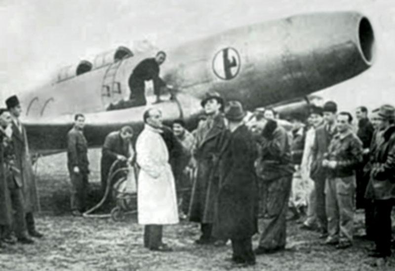 caproni campini cc2 benito mussolini 1941