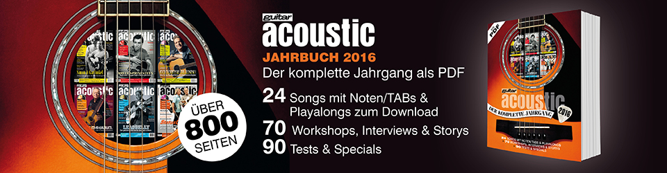 guitar acoustic Jahrbuch 2016