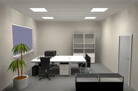 Doppelarbeitsplatz mit Lichtmanagement via Plug-and-Play