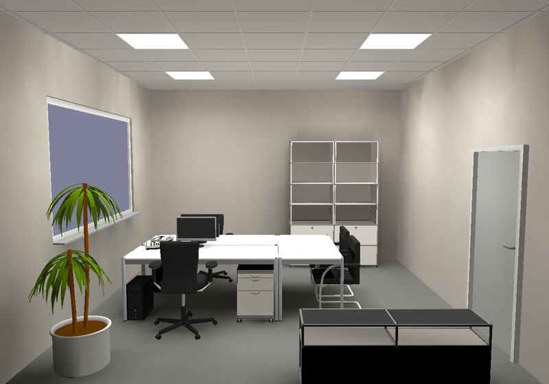 Doppelarbeitsplatz mit Plug-and-Play Lichtmanagement